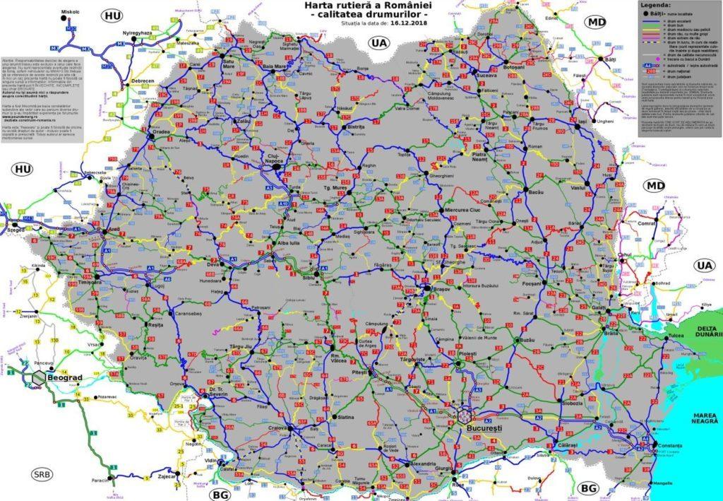 Planifica Calatoria Cu Harta Cu Starea Tehnica A Drumurilor
