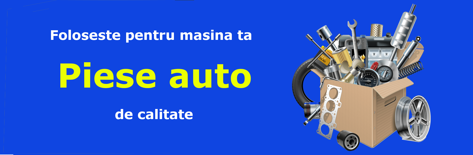 Banner pagina piese auto