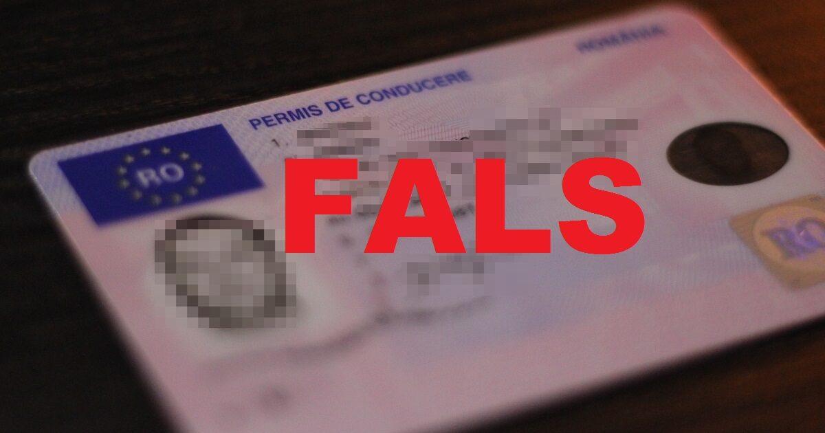 permis de conducere fals iulie