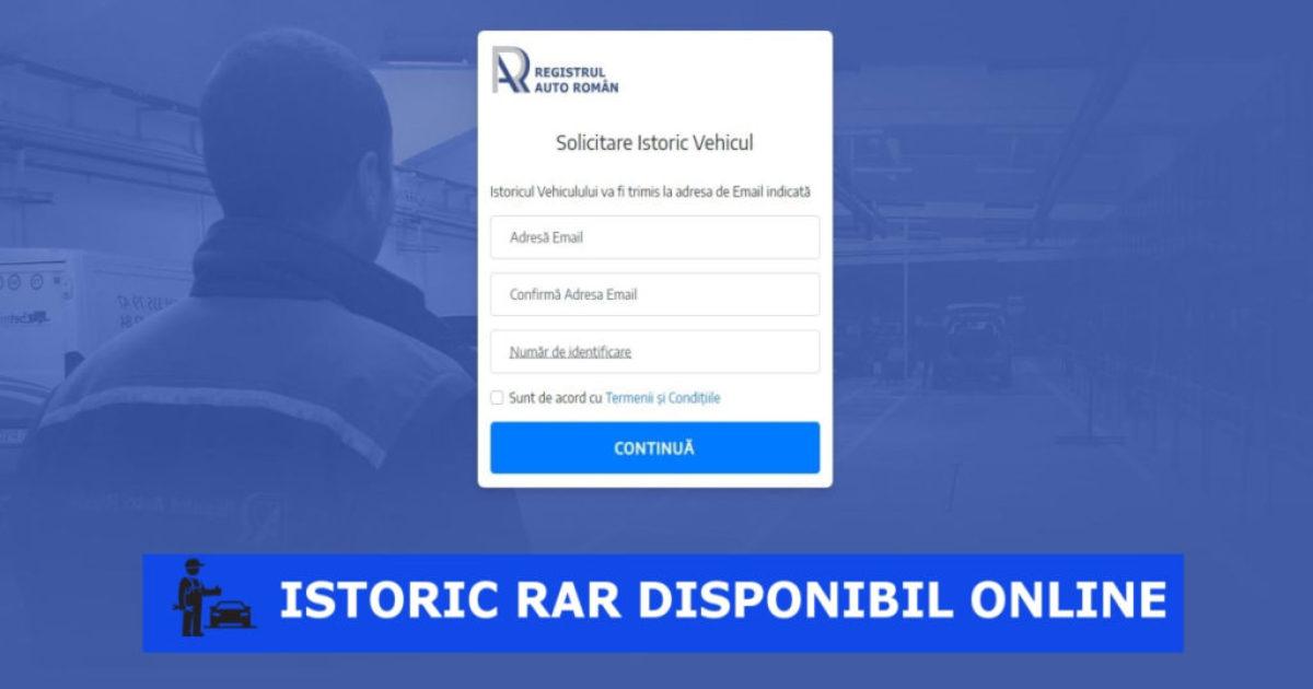 Solicitare istoric auto RAR