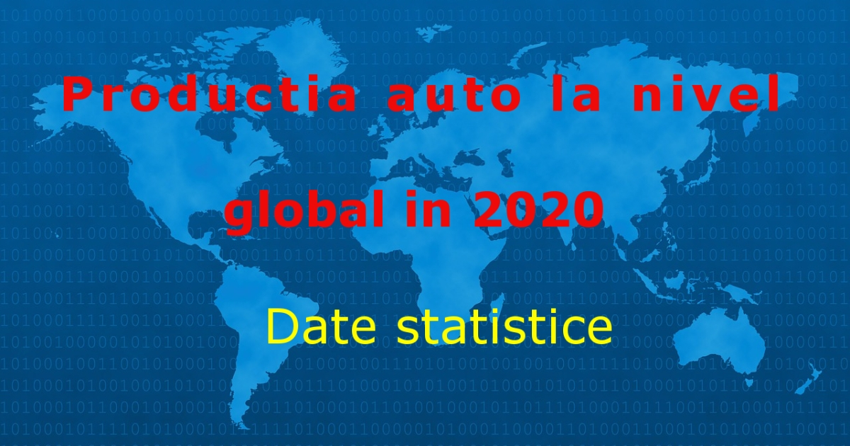 Productie auto statistica anul 2020